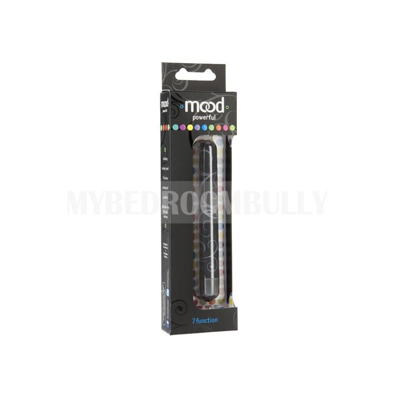 Mood Collection - Powerful 7 Function Stimulator - Black - Large