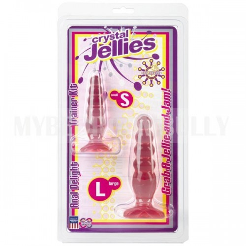 Crystal Jellies Anal Trainer Butt Plug Kit - Pink